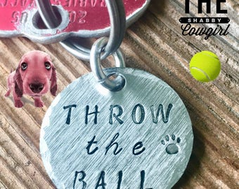 Throw The Ball - dog collar charm
