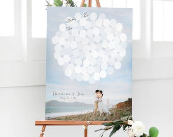 Wedding Guest Book with Pictures - Wedding Guest Book Alternative with Engagement Photos - Photo Guest Sign in - Guest Book