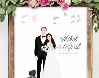 Wedding Guest Book Alternative Canvas Guest Book Idea with Portrait for Fun Wedding Guest Book Alternative Sign in Board Miss Design Berry