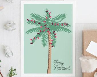 palm tree christmas cards florida holiday card feliz navidad tropical christmas card southern christmas cards design fee only - Palm Tree Christmas Cards