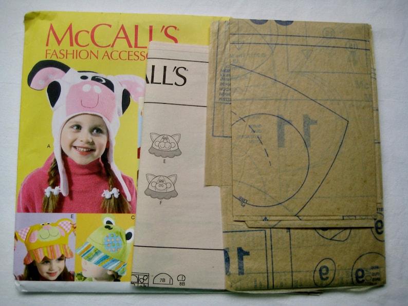 Hats McCalls 6616 Sewing Pattern Animal Hats Children Kids Child Boy Girl 6 Styles UNCUT
