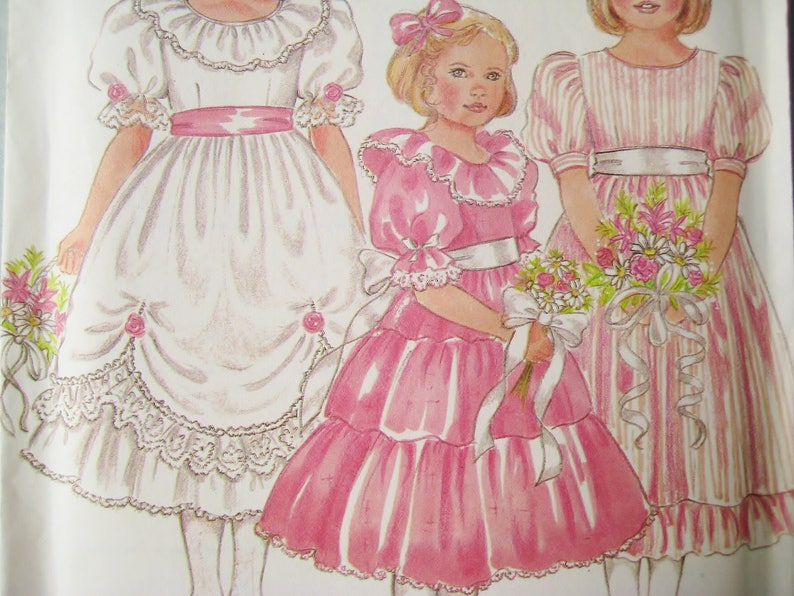 3eb4a5a1a Flowergirl Dress Sewing Pattern New Look 6356 Junior | Etsy