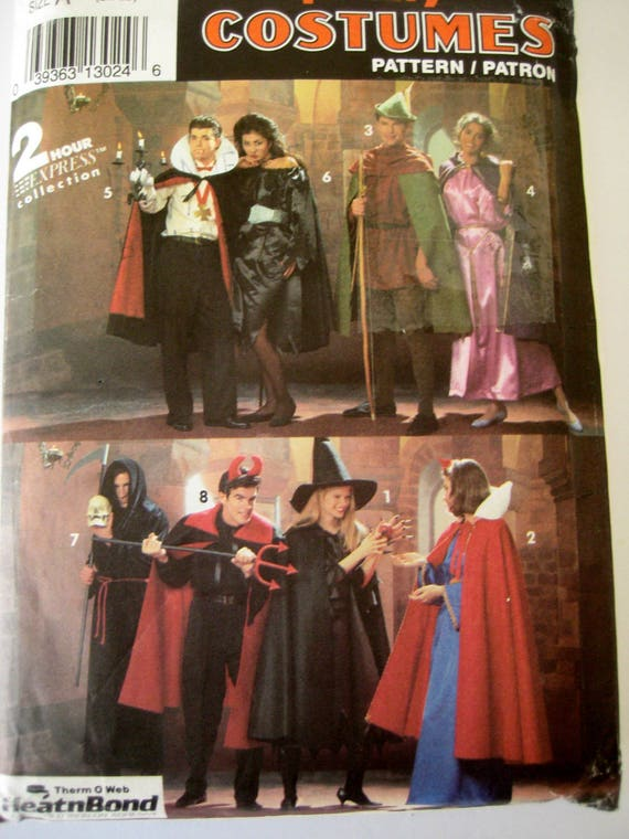 Simplicity The Wizard Of Oz Kids Costume Sewing Patterns Toddler Sizes 1//2-5