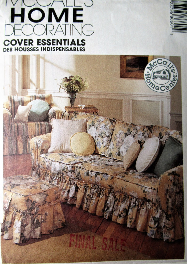 8660 UNCUT McCalls SEWING Pattern Home Decor Slipcovers Throw Pillows Covers OOP