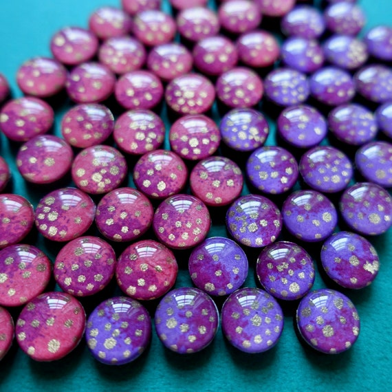Purple earrings, pink earrings, sparkle earrings, earring studs, gold earrings,