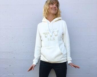 Vegan Bamboo Organic cotton hooded sweatshirt // I Don't Eat Pals / Unisex / pick your size
