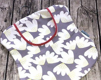 Staple bag Clothespin bag Leaves grey