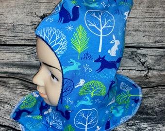 Hat Forest Animals Children's Hat Fleece Hat Reversible Hat KU 50/52