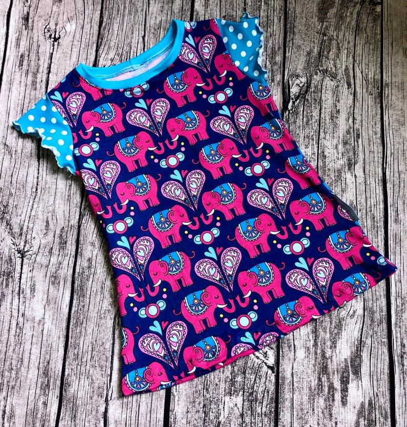 T-Shirt Elephant Size 110/116 Jersey Single Piece image 0