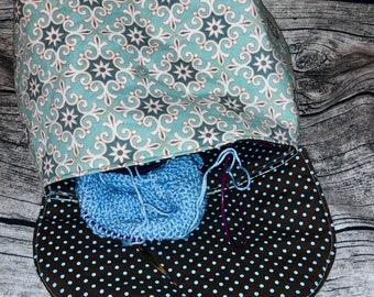 Project bag knitting, wool bag, cosmetic bag ornaments