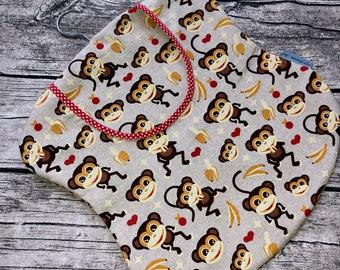 Staple Bag Clothespin Bag Monkey