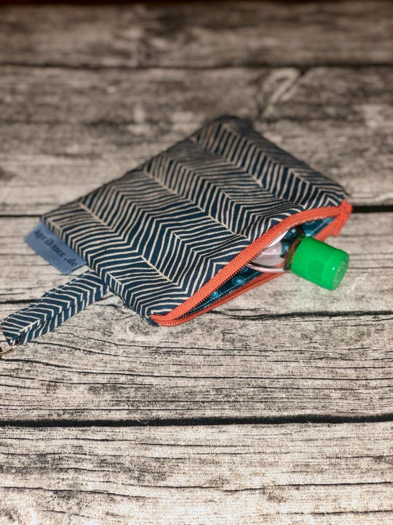 Zipper bag blue with stripes image 0