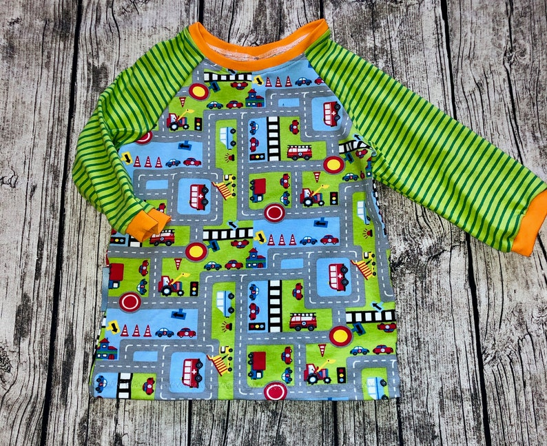 Shirt car on the road long sleeve size 74  140 Jersey By image 0