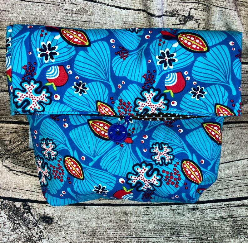 Project bag knitting flower blue image 0