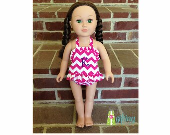 08c245e4a8995 Monogrammed Doll Swimsuit, 18