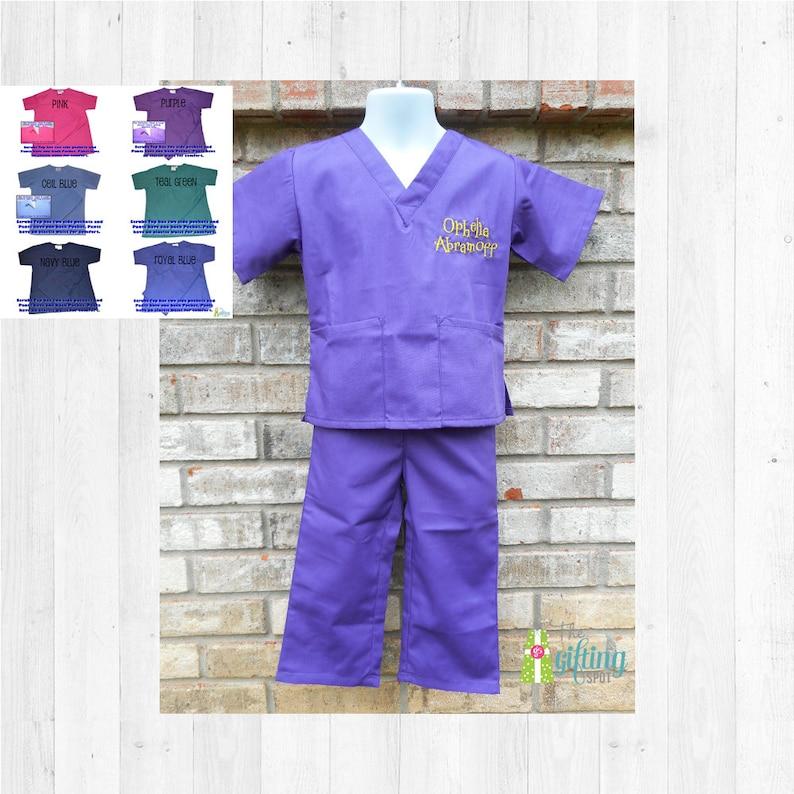 1033942fea6 Monogrammed Kids' Scrubs Child's Scrub Set Baby | Etsy