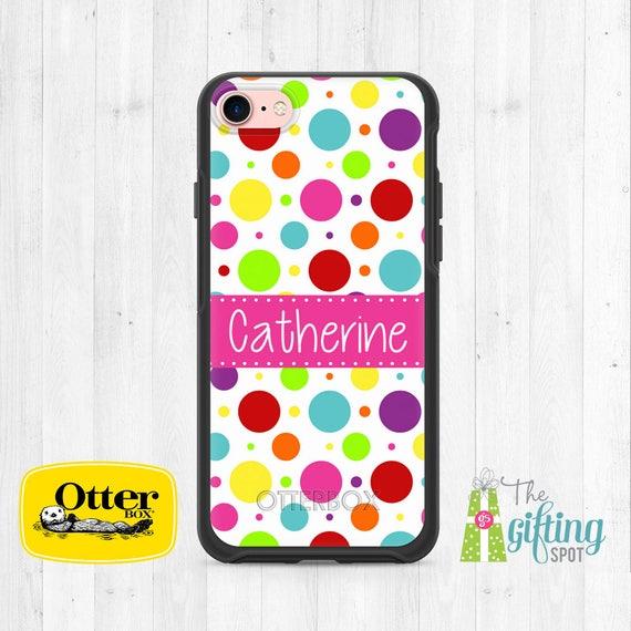 Personalized Phone Case Samsung Case OtterBox Symmetry Custom Printed Phone Case iPhone Case Monogrammed OtterBox Gold Glitter Design