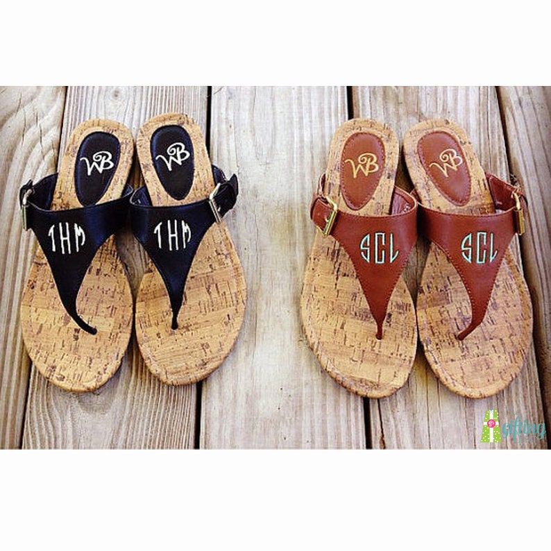 52e94fe1192435 Monogrammed Sandals Personalized Flip Flops Natalie Sandal