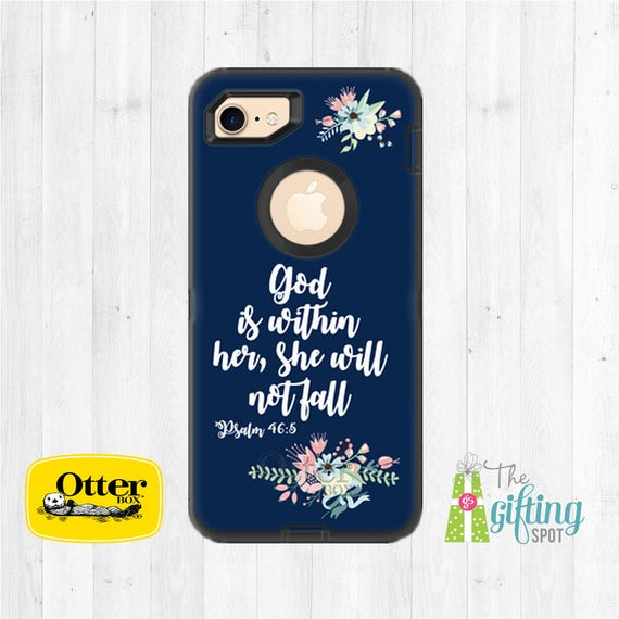 new concept 2636d 1ce73 Personalized OtterBox, OtterBox Defender, Monogrammed Phone Case, iPhone X,  iPhone 8 OtterBox, iPhone 7, iPhone 7 Plus, Biblical Scripture