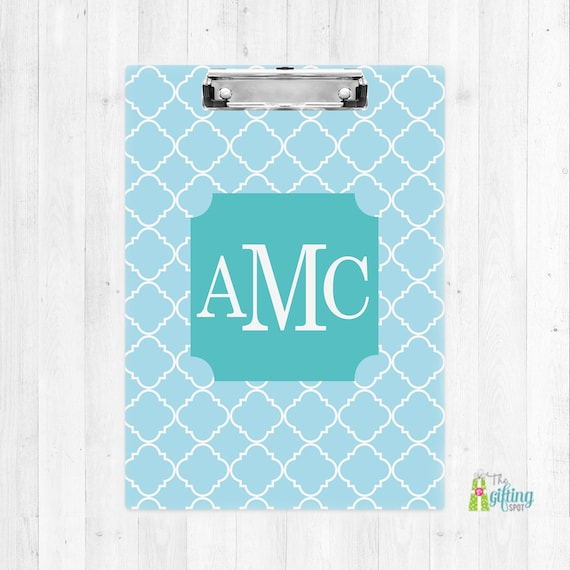 monogrammed clipboard teacher clipboard monogram school