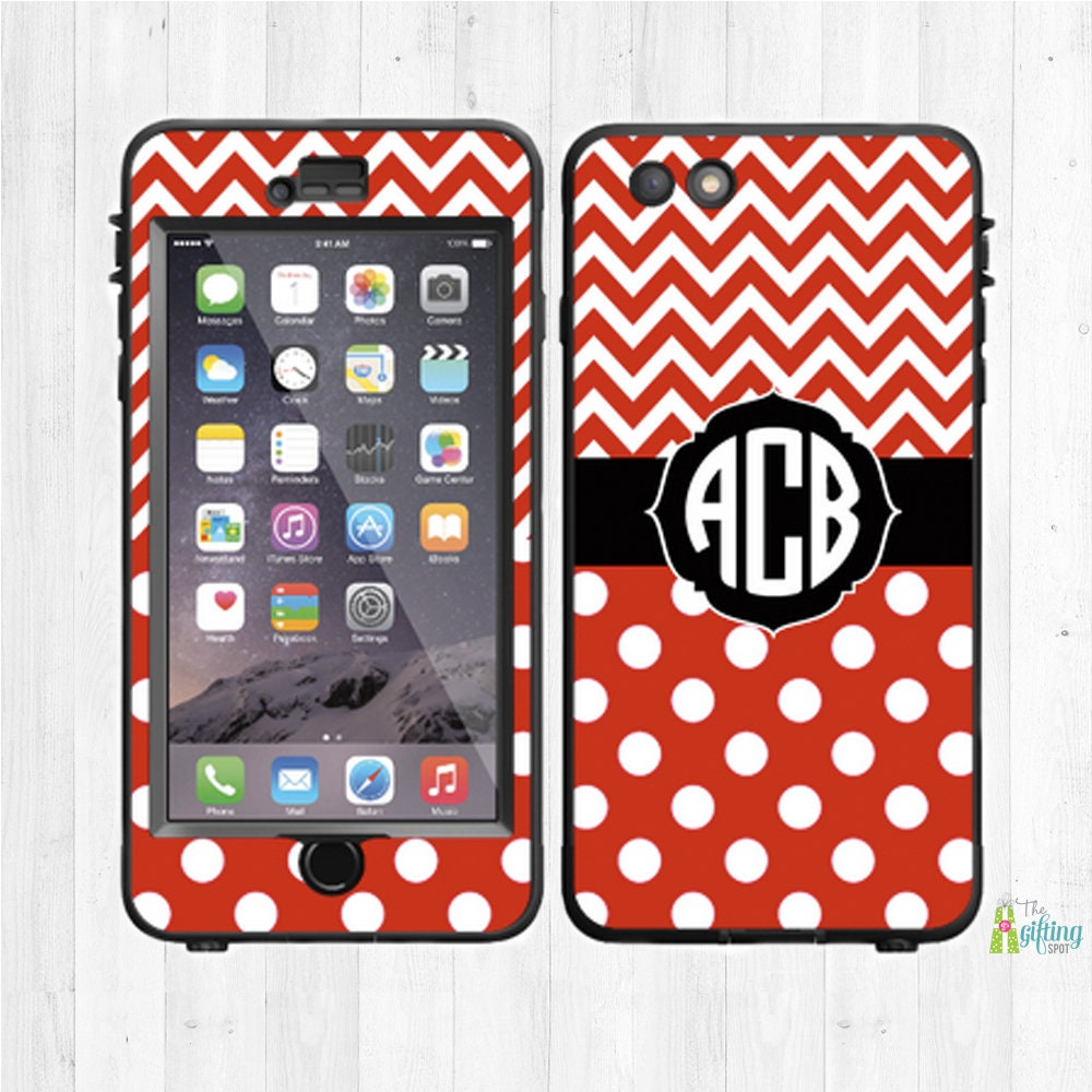 Monogram lifeproof custom phone decal lifeproof fre etsy