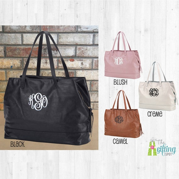 bee4a2ccc6b5 Monogrammed Purse Personalized Tote Monogram Travel Bag