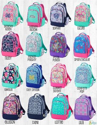 Monogrammed Backpack, Girls Backpack, Personalized Backpack for Kids, School Backpack, Book Tote, Book Bag, School Supplies, School Bag