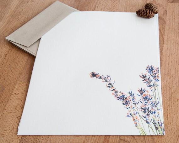 Französisch Lavendel Brief Schreiben Set Briefpapier Etsy
