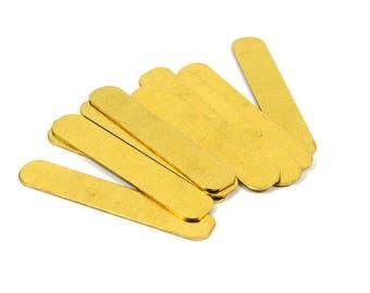 10 Pcs. Raw Brass 10x50 mm Rectangular Stick Stamping Findings , 20 Gauge