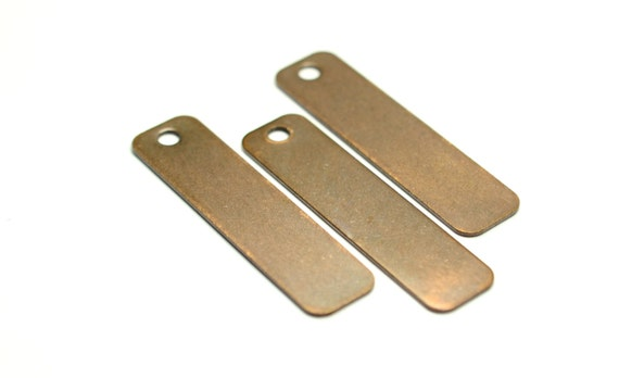 C4061 10 Pieces  Raw Brass  Brass Base  Brushed  Cut Rectangle  Charm