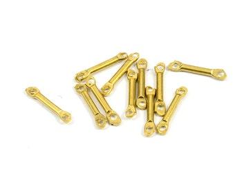 30 Pcs. Raw Brass 1.8x15 mm Stick 2 Hole Findings