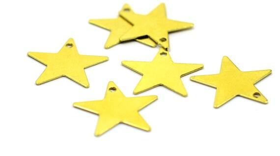 500 pièces en laiton brut 15 x 16 mm étoile 1 trou résultats