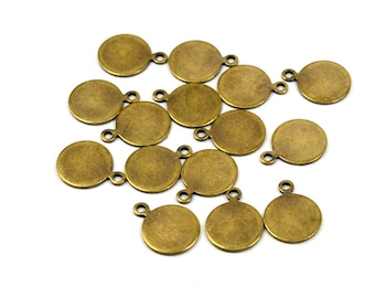 250 Pcs. Antique Brass 10 mm Round Disc Blanks Findings