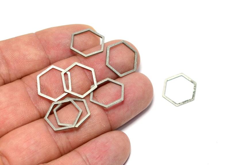 Charms SC235 Antique Silver Hexagonal Rings 1x14 mm Geometric ...