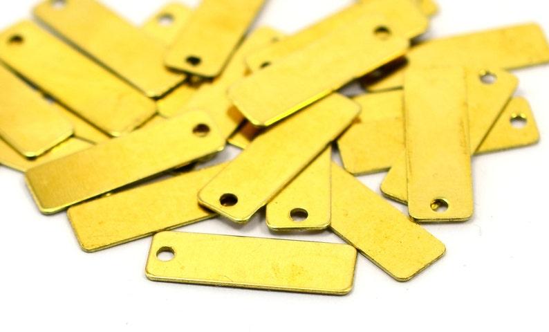 Raw Brass 6x19 mm Rectangular Stamping Tag Findings 500 Pcs