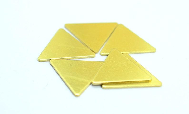 50 pcs Raw Brass 25x25x25 mm Triangle Geometric Stamping Blanks 1 mm Thick 18 gauge