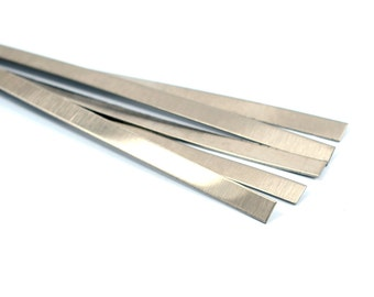 """5 Pcs. Stainless Steel 5/16"""" x 6"""" ( 8x150 mm )  Rectangle Bracelet Blanks  20 Gauge 0.8 mm Thick"""