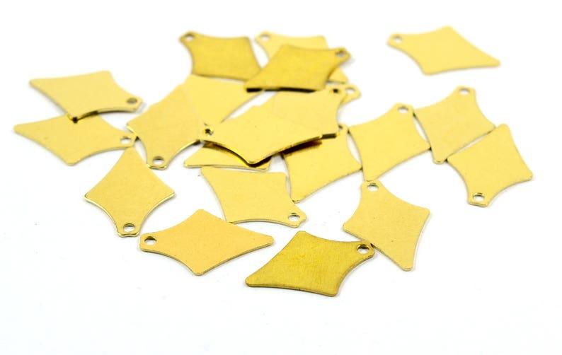 250 Pcs Charms Raw Brass  12x17 mm  Arrow Findings Blanks