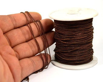 165 ft. 50 Meter Antique Copper 1.2 mm Ball Chain