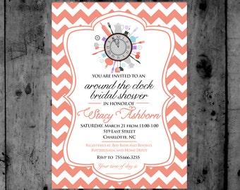 around the clock bridal shower vintage around the clock bridal shower printable invitation bridal shower