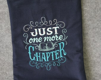 Book case, book bag with embroidery for book lovers, booksleeve
