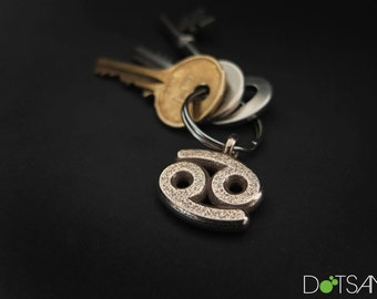 Cancer Symbol 3D Printed Keychain