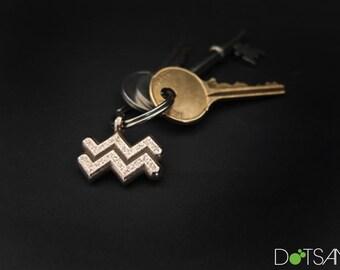 Aquarius 3D Printed Keychain