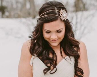 Braut Strass Brosche Stirnband, Gold Kopfschmuck, Silber Haarkranz, Hochzeit Kopfschmuck, Prom-besonderen Anlass Kopfschmuck