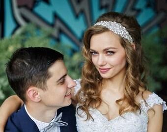 Rhinestone Vintage Glamour Bridal Head Piece, Bridal Vintage Syle Crystal Headband, ~Galea~