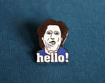 Hello! Mrs. Doubtfire Enamel Pin - Lapel Pin - Badge