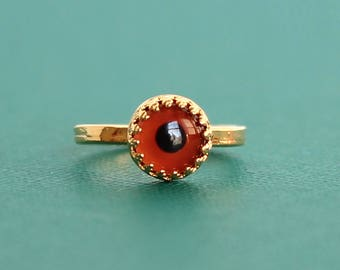 Taxidermy Bird Eye Ring (Various Sizes Available) Rose Gold, Gold, or Silver