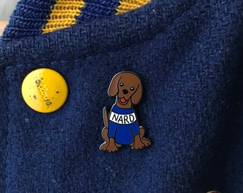 NARD DOG Hard Enamel Pin - Lapel Pin - Badge - The Office - Andy Bernard