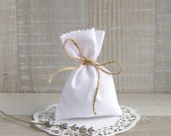 40 White favor bags, Wedding cotton gift bag, Baptism favor bags, Holiday white bags, Jewelry packing bags, Bridal decor,  Candy bags - 4x6'