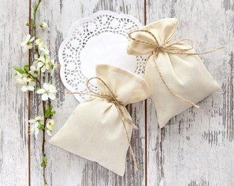SET OF 200 Wedding favor bags, Muslin gift packing, Baptism favor bags, Holidays candy bags, Party favors, usb pouch, Thank You gift - 4 х 6